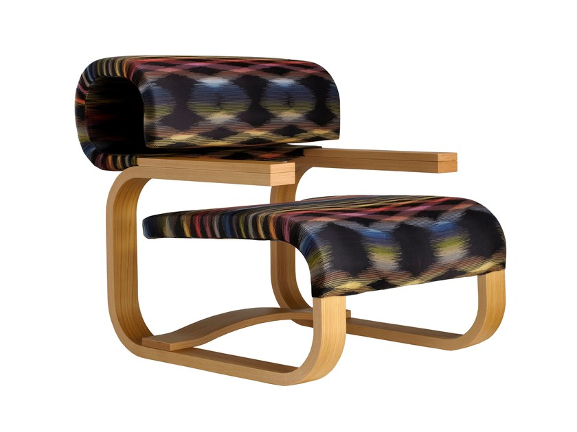 Sled base easy chair with armrests DANIELA - MissoniHome