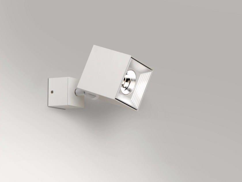 Faretto a LED da parete orientabile in stile moderno DAU SPOT LED 6464  Faretto da parete ...