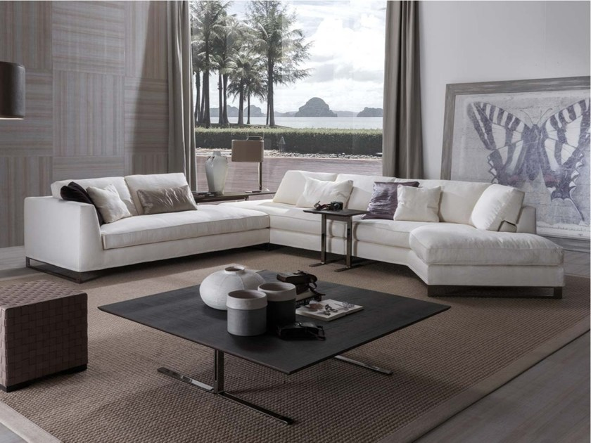 Sled base sectional fabric sofa DAVIS FREE | Sectional sofa - FRIGERIO POLTRONE E DIVANI