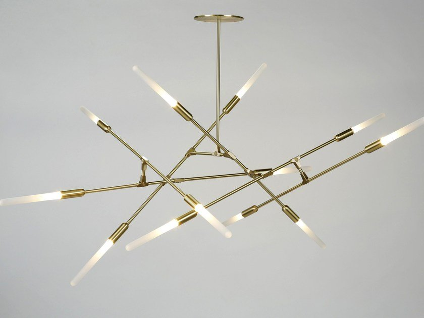 LED direct light brass pendant lamp DAWN by Matthew McCormick
