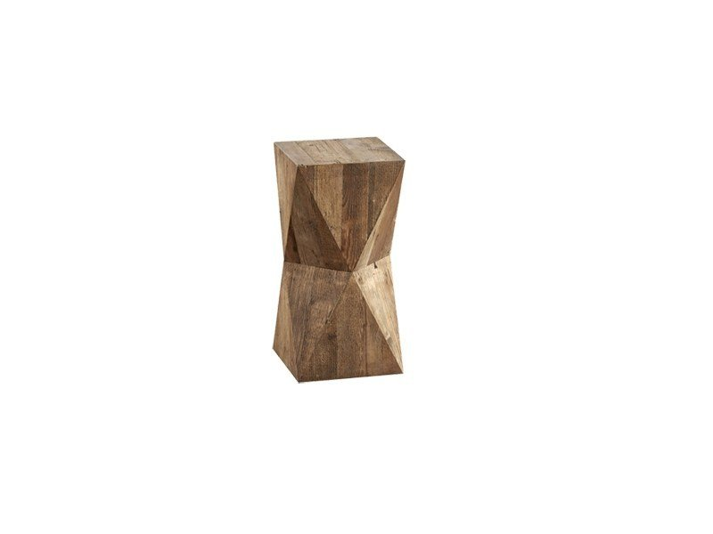 Square pine side table DB003978 by Dialma Brown