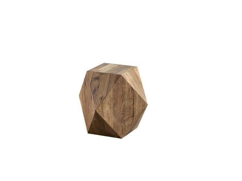 Square pine side table DB003979 - Dialma Brown