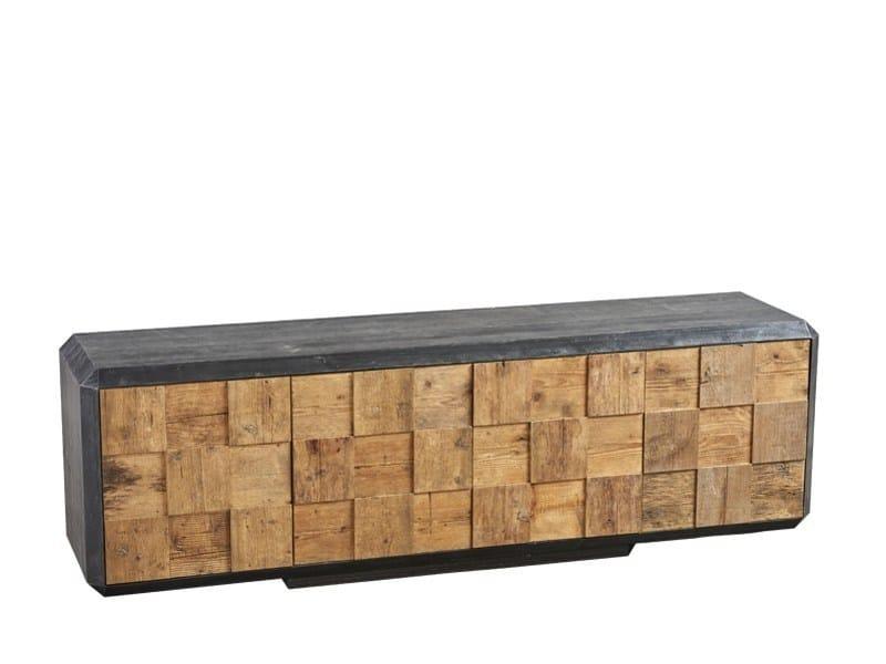 Reclaimed wood sideboard with doors DB004119 | Sideboard with doors - Dialma Brown