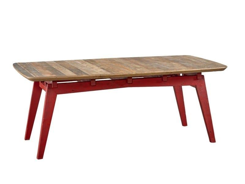 Tavolo da pranzo rettangolare in legno di recupero DB004125 by Dialma Brown