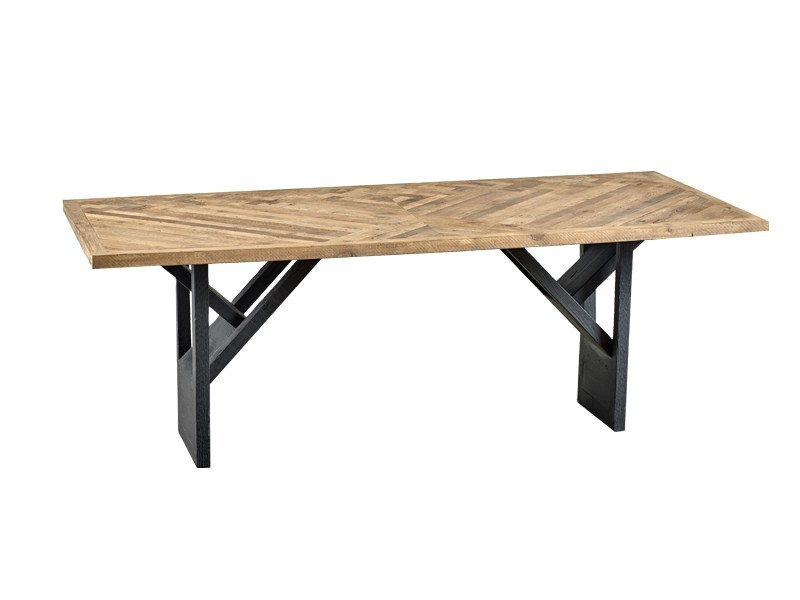 Rectangular reclaimed wood dining table DB004129 - Dialma Brown