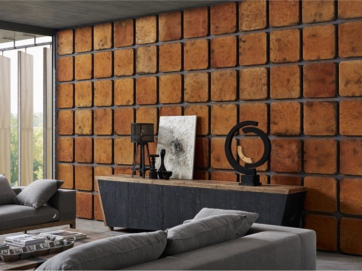 Indoor wooden wall tiles DB004151 | Wall tiles by Dialma Brown