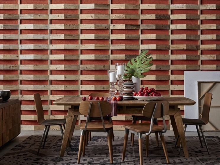 Indoor reclaimed wood wall tiles DB004159 | Wall tiles - Dialma Brown