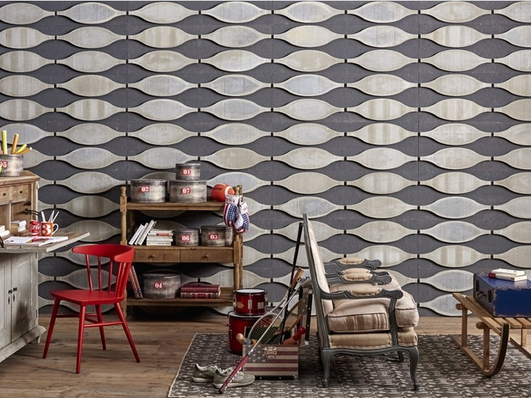 Indoor cement wall tiles DB004160 | Wall tiles - Dialma Brown