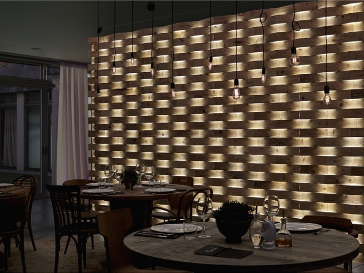 Indoor reclaimed wood wall tiles DB004165 | Wall tiles - Dialma Brown