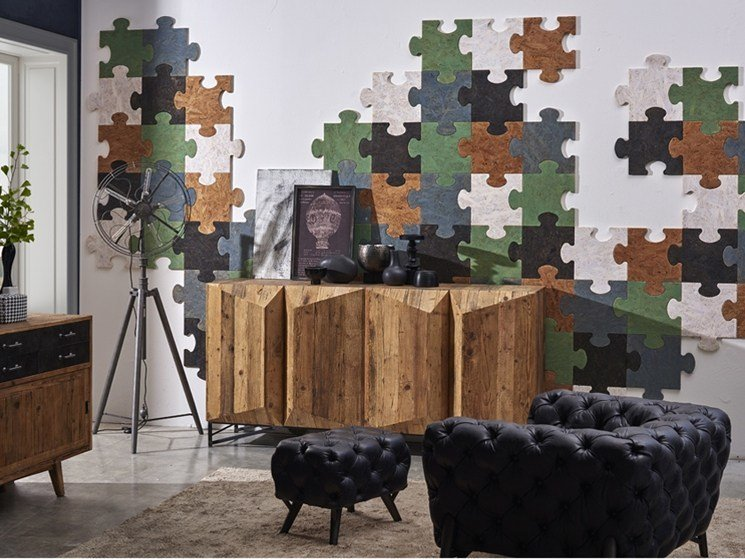 Indoor reclaimed wood wall tiles DB004173 | Wall tiles by Dialma Brown
