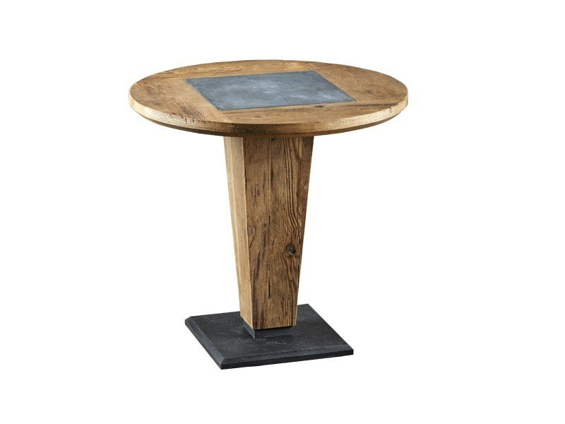 Round reclaimed wood dining table DB004178 by Dialma Brown