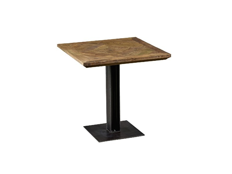 Square reclaimed wood dining table DB004197 - Dialma Brown