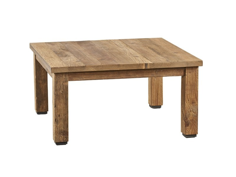 Square reclaimed wood coffee table DB004348 - Dialma Brown