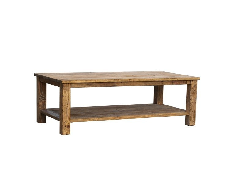 Reclaimed wood coffee table with storage space DB004350 - Dialma Brown