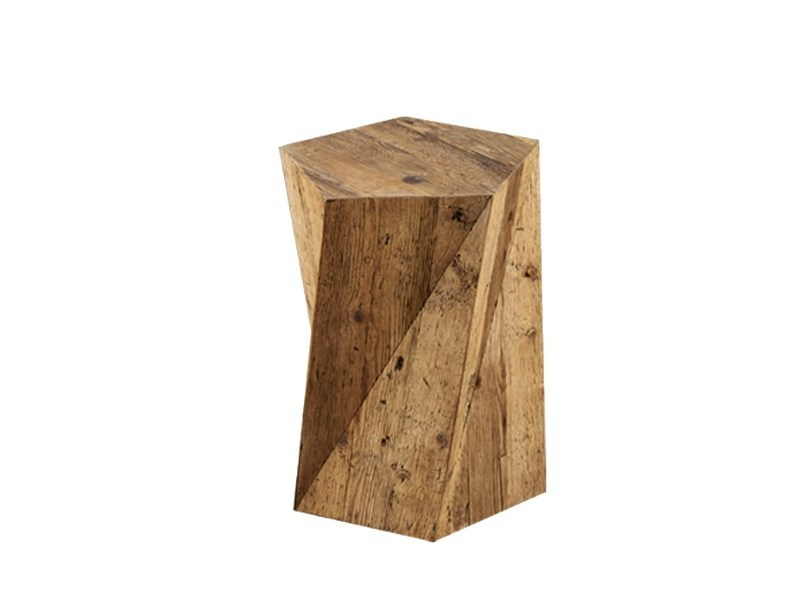 Square pine side table DB004416 - Dialma Brown