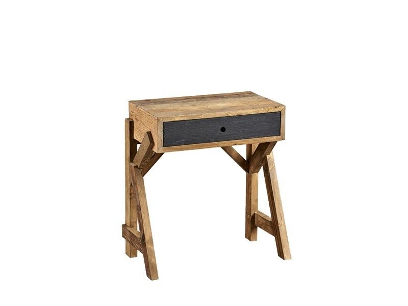 Rectangular pine bedside table with drawers DB004434 | Bedside table - Dialma Brown