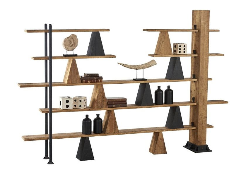 Open pine shelving unit DB004490 | Open bookcase - Dialma Brown