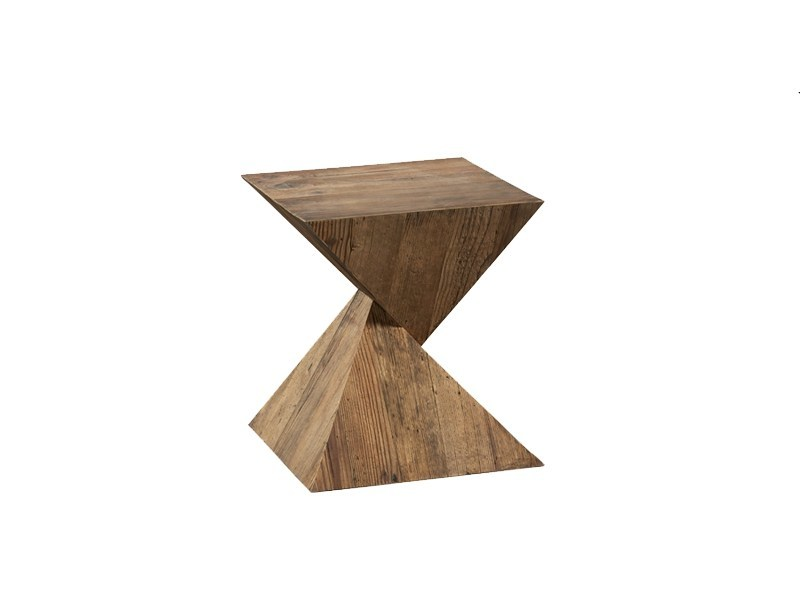 Square pine side table DB004497 - Dialma Brown