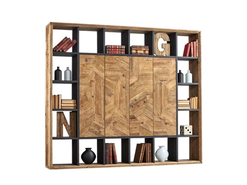 Pine bookcase DB004545 | Bookcase - Dialma Brown