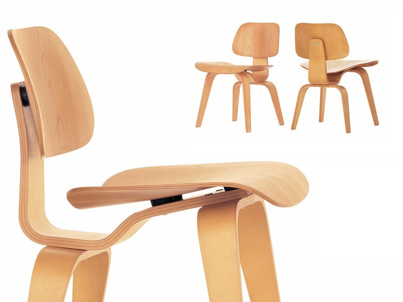 Ash chair DCW by Vitra