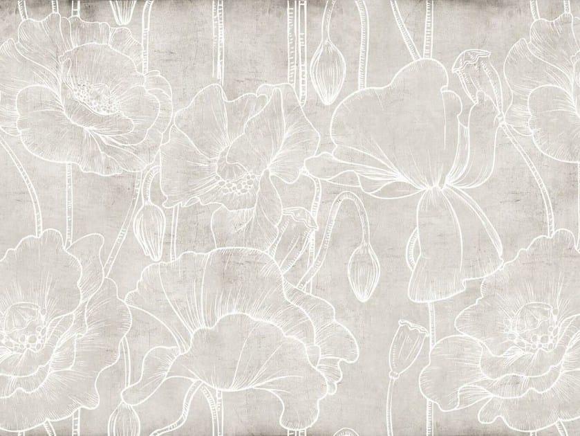 Glass-fibre textile with floral pattern DE-21 by MOMENTI