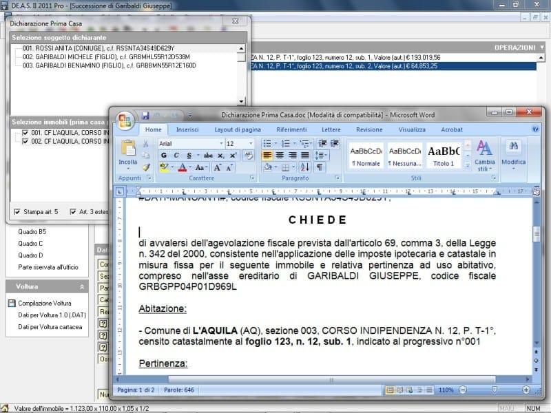 Composizione documenti integrativi