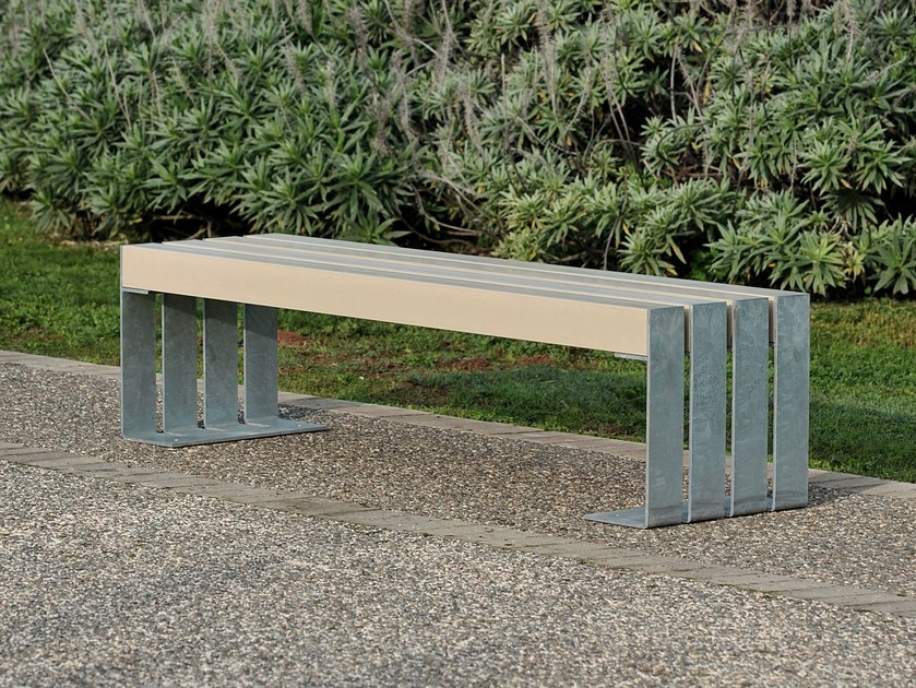 Steel and wood Bench DEACON | Bench - LAB23 Gibillero Design Collection