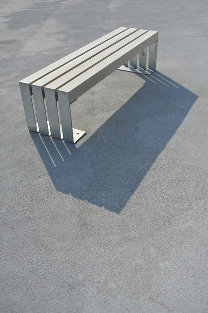 Recyclable backless Bench DEACON ECO - LAB23 Gibillero Design Collection