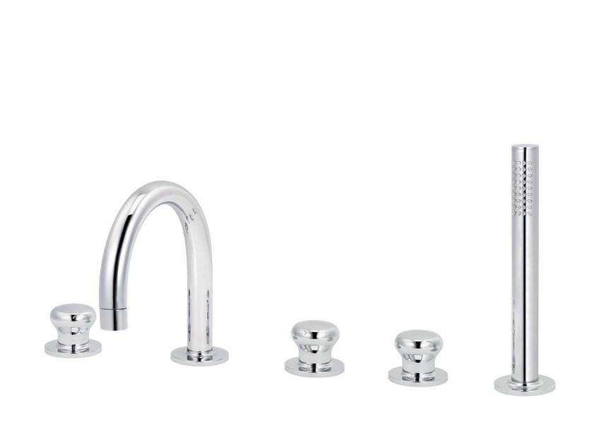 5 hole bathtub set with hand shower DEAUVILLE | 5 hole bathtub tap - rvb