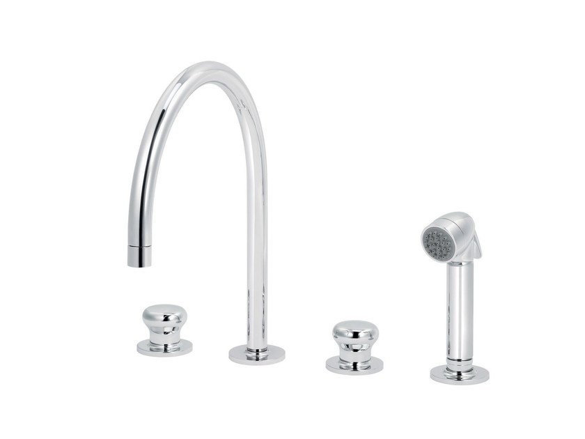Countertop kitchen mixer tap with pull out spray DEAUVILLE | Kitchen mixer tap with pull out spray - rvb