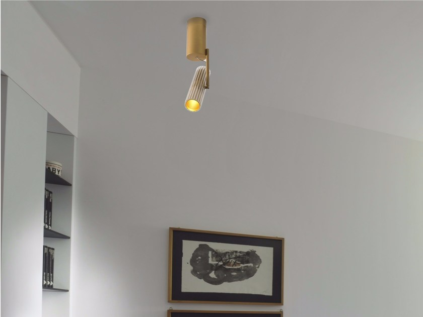 Faretto a LED orientabile in alluminio a soffitto DECÒ | Faretto - GLIP by S.I.L.E