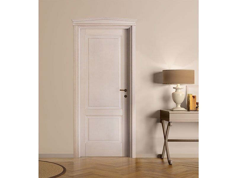 Lacquered solid wood door DECAPATA - LEGNOFORM