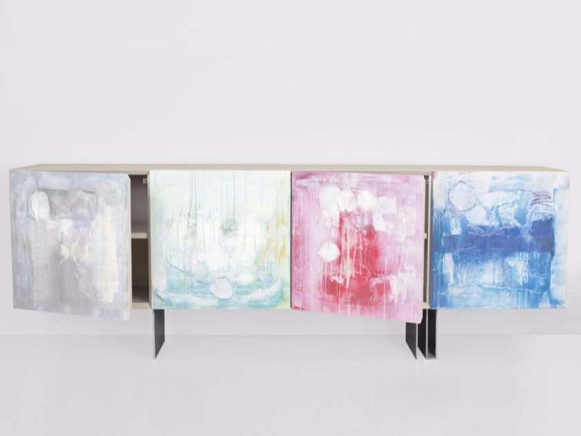 Lacquered MDF sideboard with doors DECK - ARKOF LABODESIGN