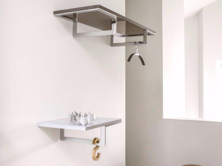 Steel and wood coat rack / wall shelf DECK - Schönbuch