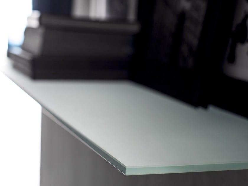 Satin glass wall shelf DECORFLOU® CLASSIC by OmniDecor®