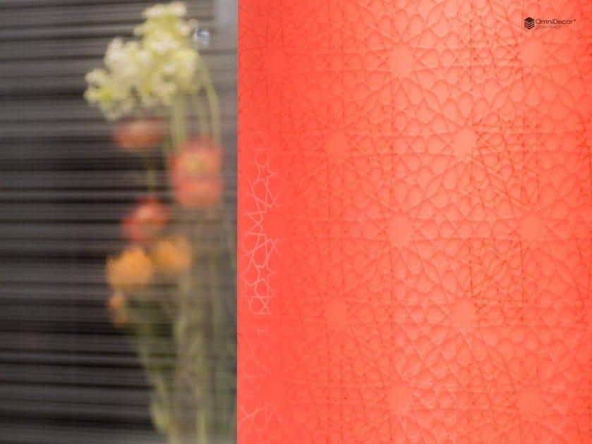 Decorated glass partition wall DECORFLOU® DESIGN ARABESQUE - OmniDecor®