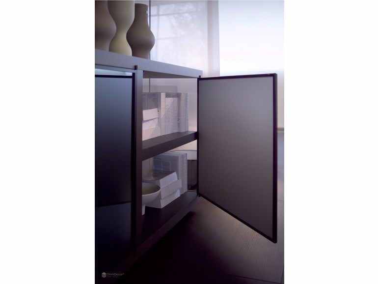 Satin glass cabinet door DECORFLOU® REFLECTING - OmniDecor®