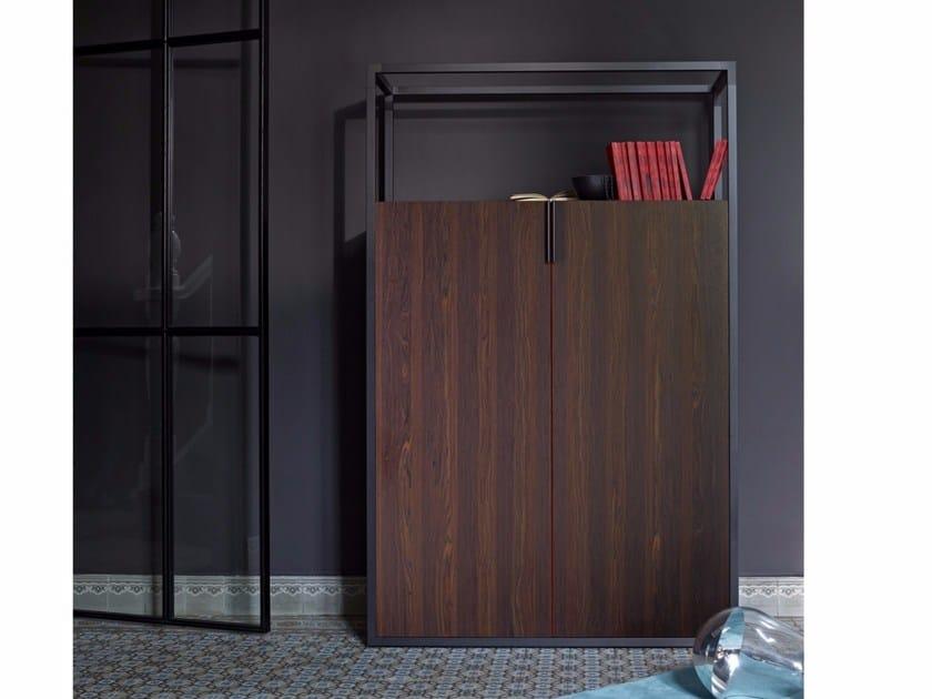Wood veneer highboard with doors DEDICATO | Highboard - ROSET ITALIA