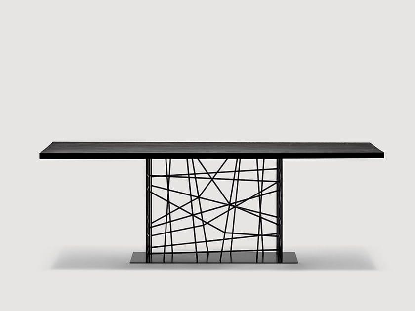 Rectangular dining table DEFRAME | Rectangular table - da a