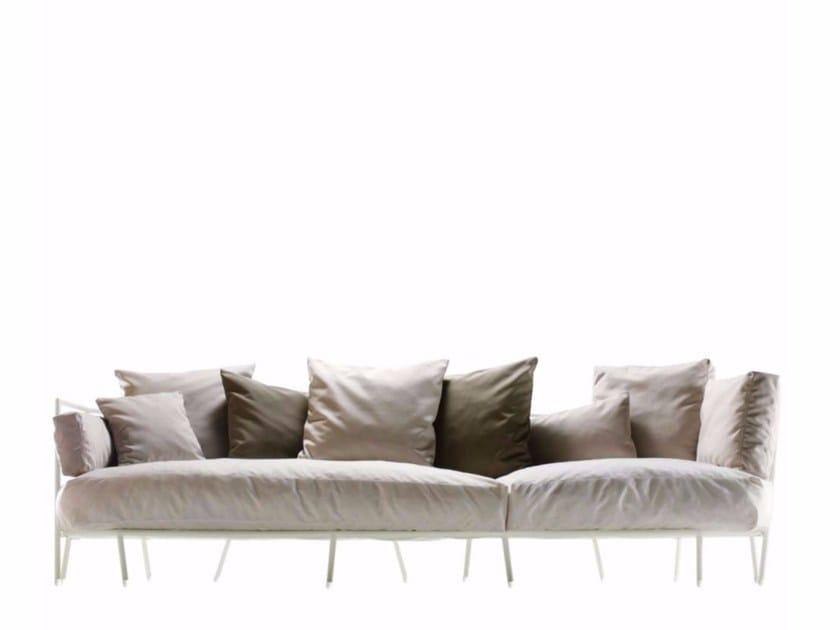 3 seater fabric garden sofa DEHORS - 372_O - Alias