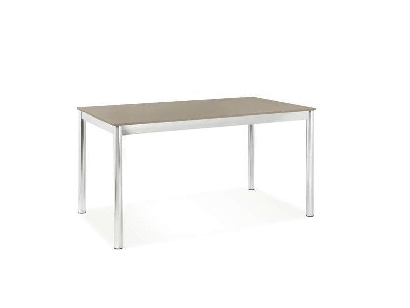 Extending lacquered rectangular table DEJÀ-VU - CREO Kitchens by Lube