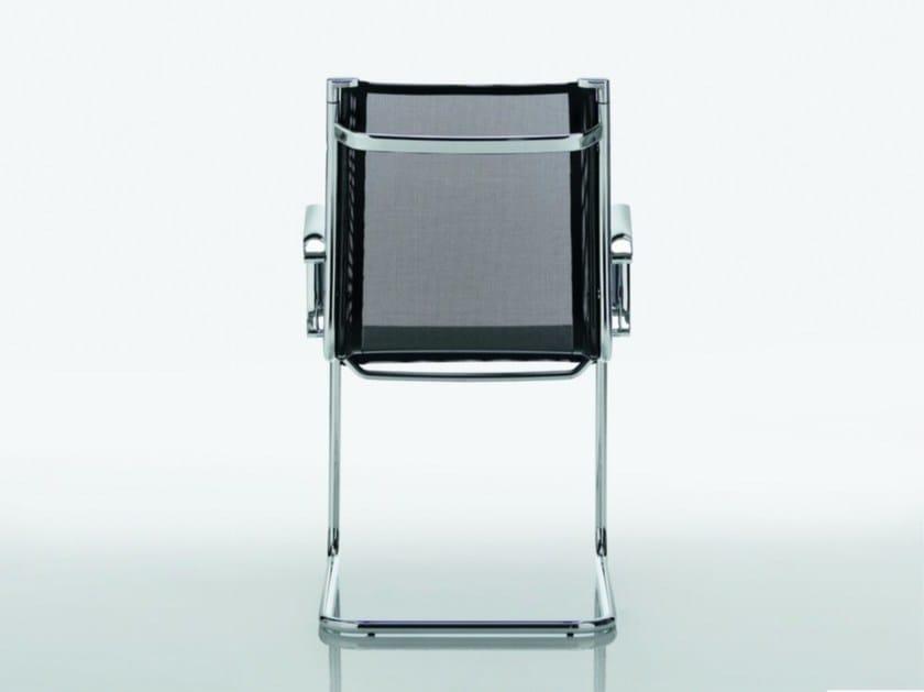 Cantilever mesh chair DEKORA | Cantilever chair by Quadrifoglio