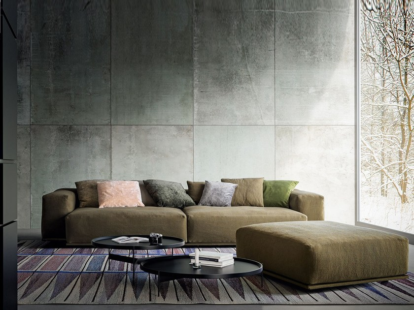 Fabric sofa with removable cover DELANO | Fabric sofa by PIANCA