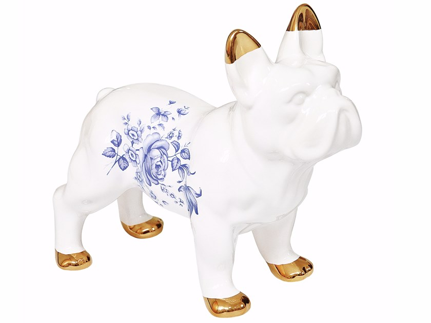 Ceramic decorative object DELFT CERAMIC BULLDOG by Mineheart