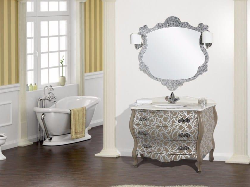 Vanity unit with drawers with mirror DELOS CM28DC - LA BUSSOLA
