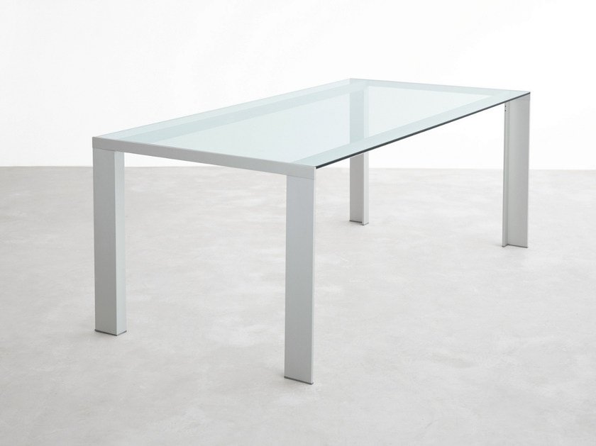 Rectangular glass table DENEB | Glass table - STUA