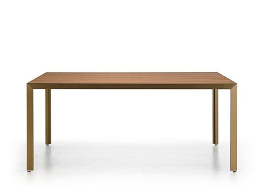 Rectangular oak table DENIA - Punt
