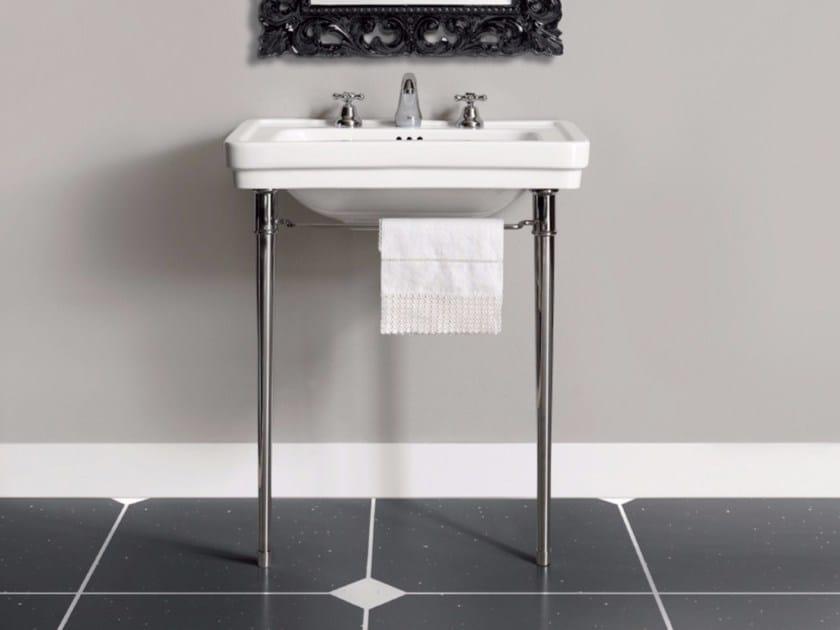 Console washbasin with towel rail DESDEMONA | Console washbasin - BATH&BATH