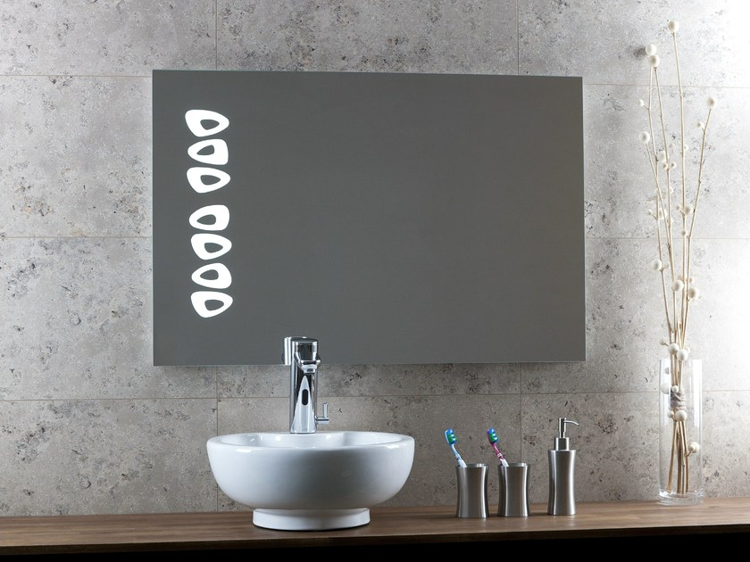 Mirror with integrated lighting DESIRE - Glassolutions