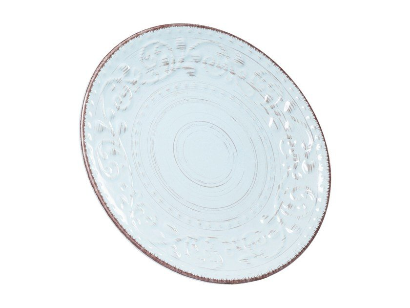 Porcelain stoneware plate DESIRE TURQUESE | Plate - KARE-DESIGN